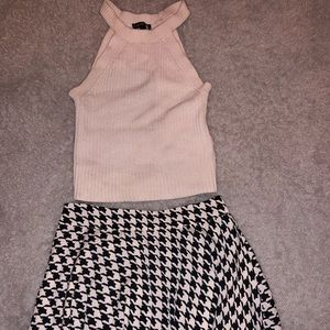 Bundle!! Express knit crop & Forever21 skirt